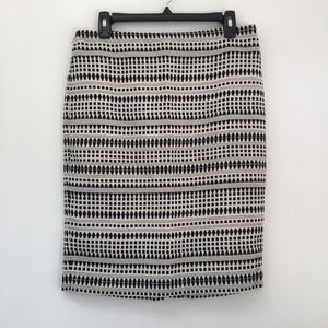 Ann Taylor Loft Black white career skirt size 8